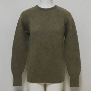 Peter Scott Shetland Womens Sm Wool Sweater Green
